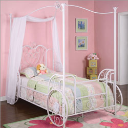 Powell Company Princess Emily Canopy Twin Size Bed