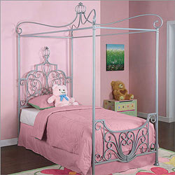 Powell Company Princess Rebecca Twin Size Canopy Bed