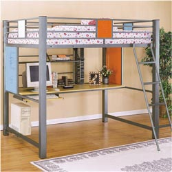 Powell Company Teen Trends Study Loft Bed