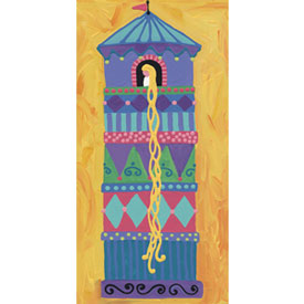 Oopsy Daisy/No Boundaries Rapunzel Stretched Art