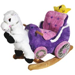 Princess Carriage Plush Rocker