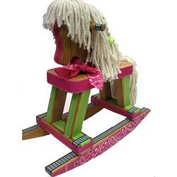 Sassy Cowgirl Rocking Horse