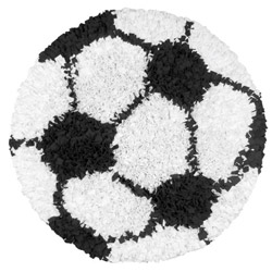 Soccer Ball Shaggy Raggy Rug