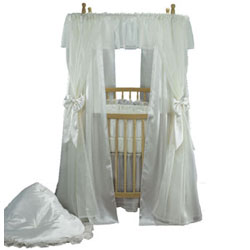 Baby Doll Mini Bride  Round Crib Bedding