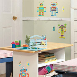 Build Your Own Robot Wall Decals