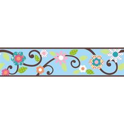 Floral Scroll Peel & Stick Border