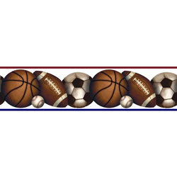 Play Ball Peel & Stick Border
