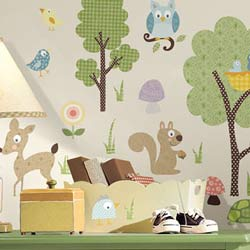 Woodland Animals Wall Decal
