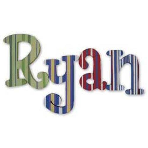 Ryan's Stripes Whimsical Style Letters
