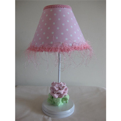 Baby Pink Flower Lamp
