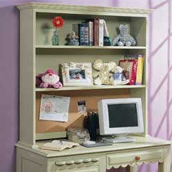 Scalloped Desk Hutch