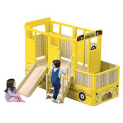 Guidecraft usa School Bus Vehicle Playtime Loft