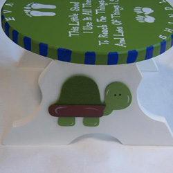 Personalized Turtle Step Stool