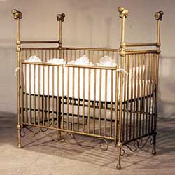 Corsican High Post Sheep Iron Baby Crib
