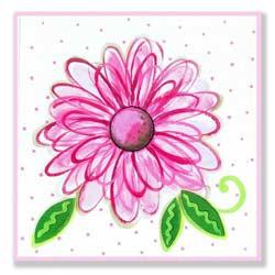 Large Flower Artwork-Daisy