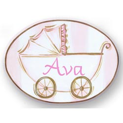 Baby Carriage Name Plaque