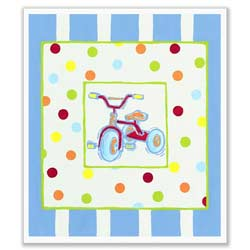 Transportation Dots and Stripes Bicycle