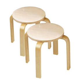 Children's Wooden Sitting Stools- Set of 2