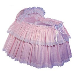 Blauen Sweet and Rosy Bassinet Set