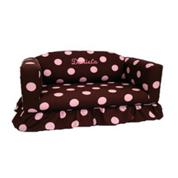 Child's Personalized Sofa With Ruffled Skirt