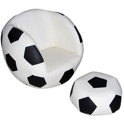 Soccer Toddler Chair with Ottoman