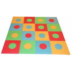 Sleeping Partners Multi-Colored Geometric Floor Mat