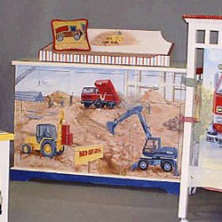 Tractors and Trucks Changing Table