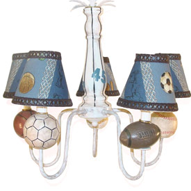 Just Too Cute Sports Chandelier