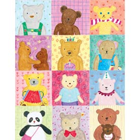 Square Bears Stretched Art