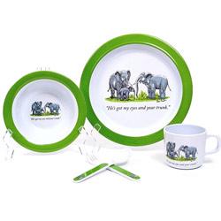 Elephant Family 5 piece Kids Dish Set