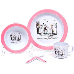 Food Issues Pink 5 Piece Dish Set