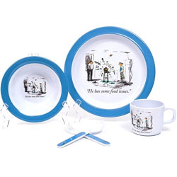 Food Issues Blue 5 Piece Dish Set