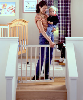 Slat Style Stairway Swing Gate