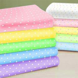 Pastel Pindots Cotton Porta Crib Sheet