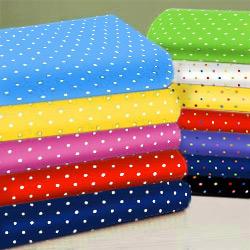 Primary Pindots Cotton Porta Crib Sheet