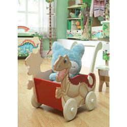 Teamson Dinosaur Kingdom Push Cart
