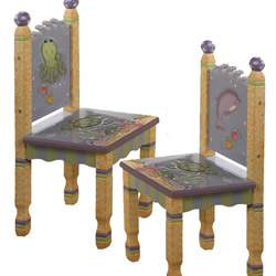 Under The Sea Set of Two Chairs