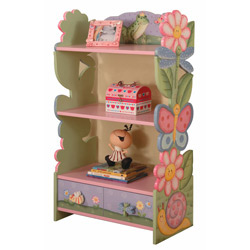 Your Daughters Garden Collection Add extra storage to her bedroom with this Magic Garden Bookshelf Multi-level shelving allows storage for a variety of items You can also coordinate her book shelf to her table  chairs creating that little storytime corner
