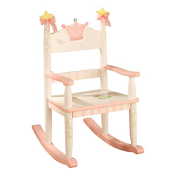 Child's Princess and Frog Crown Rocker