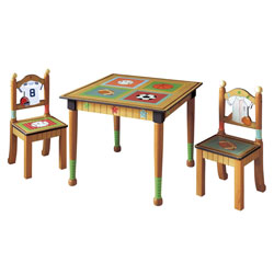 Teamson Little Sports Fan Table and Chair Set