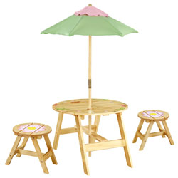 Teamson Magic Garden Outdoor Table and Chair Set