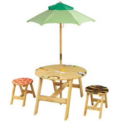 Teamson Sunny Safari Outdoor Table and Chair Set