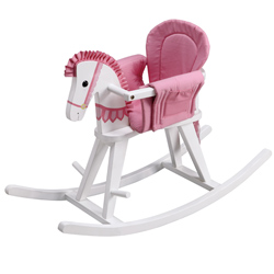 Teamson Convertible White Rocking Horse Bassinet