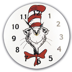 Trend Lab, LLC Dr. Seuss Cat in the Hat Wall Clock