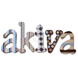 Blue Chocolate Wall Letters