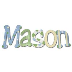 Mason's Blue and Green Wall Letters