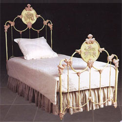 Corsican Casted Rose Iron Bed