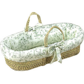 Baby Doll Toile Moses Basket