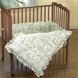 Baby Doll Toile Portable Crib Sheet