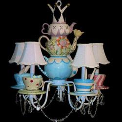 Alice in Wonderland Light Fixture